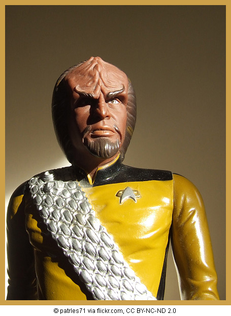 Statuette of Lt. Worf